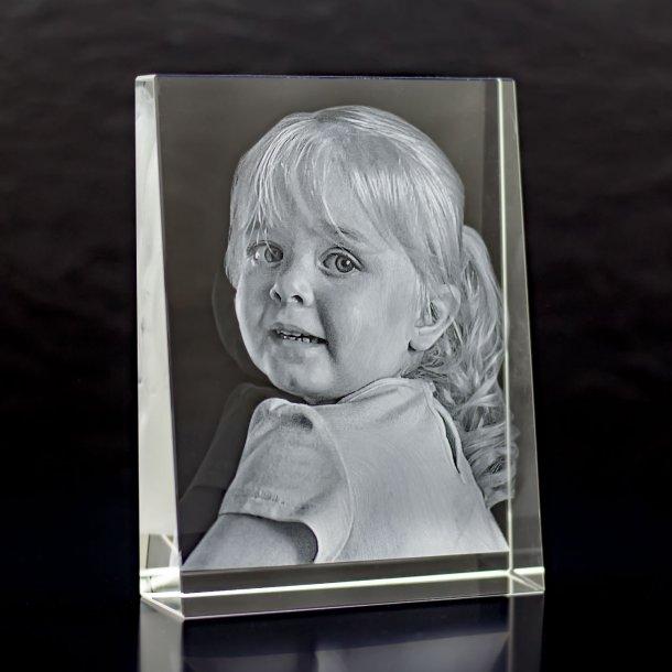 Rektangulær Glasblok - 3 x 10,5 x 14 cm