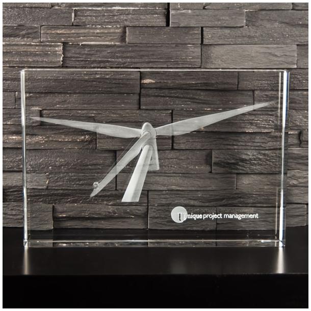 Smal Rektangulær Glasblok - 5 x 20 x 30 cm