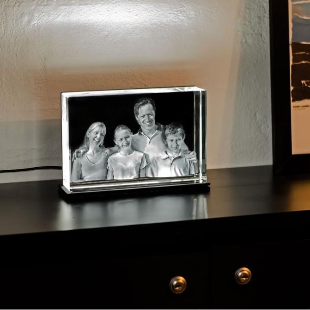 Smal Rektangulær Glasblok - 4 x 12 x 18 cm