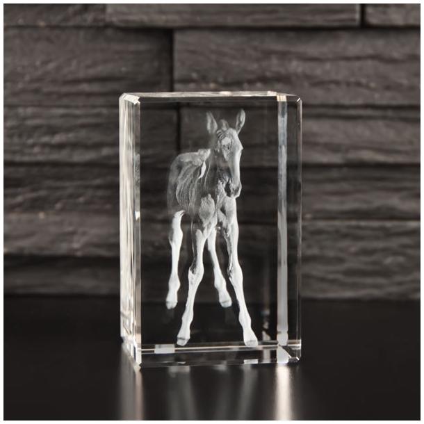 Rektangulær Glasblok - 5 x 5 x 8 cm