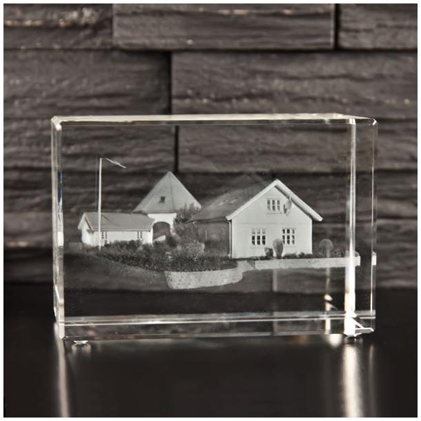 Rektangulær Glasblok - 65 x 75 x 110 mm