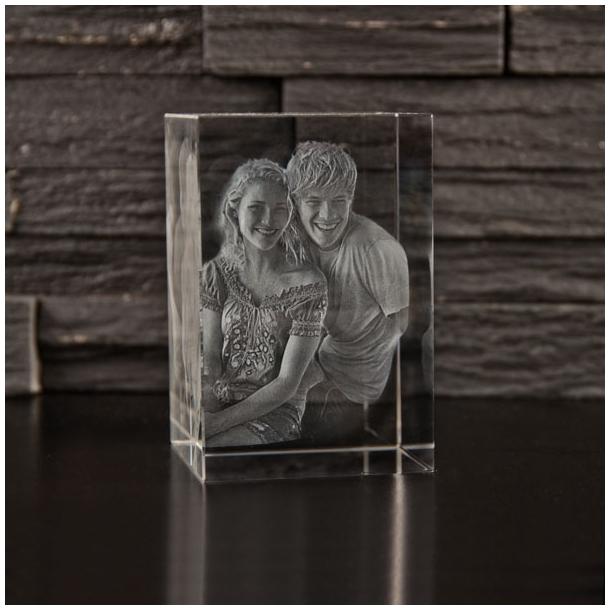 Rektangulær Glasblok - 6 x 6 x 9 cm