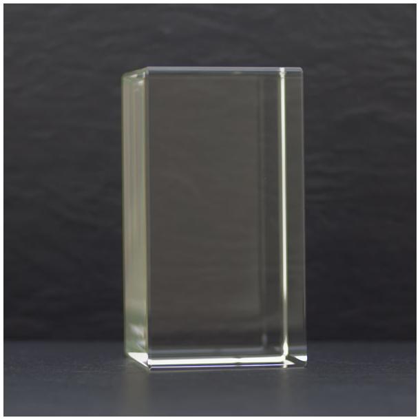 Høj Rektangulær Glasblok - 60 x 70 x 130 mm