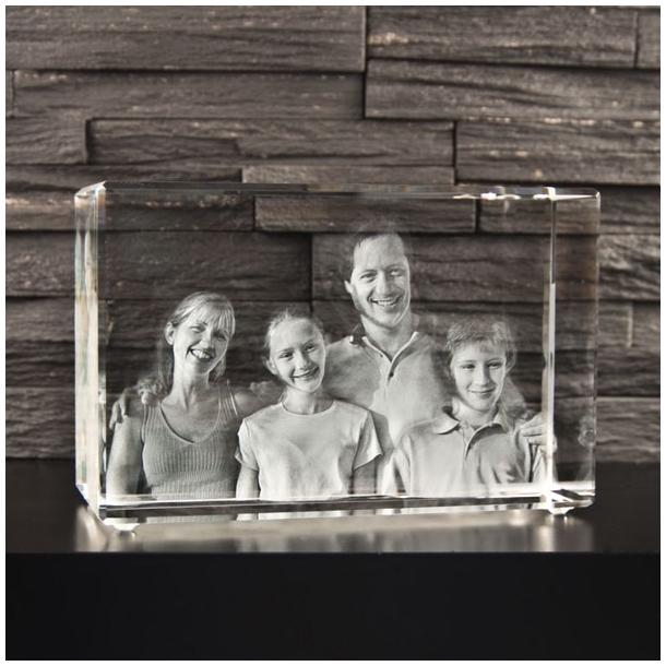 Rektangulær Glasblok - 10 x 15 x 20 cm