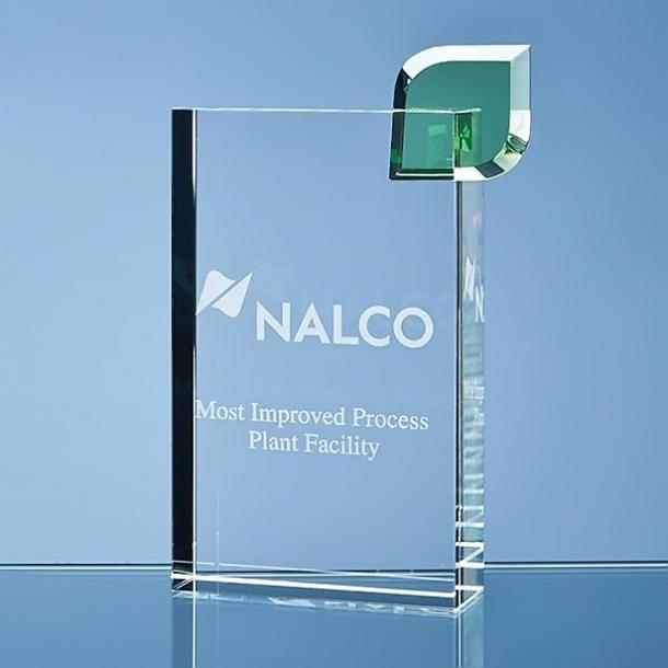 Rektangulær Award m. Grøn blad