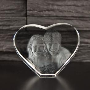 Hjerteformet glasblokke