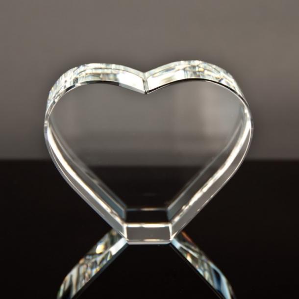 Glashjerte opretstående - 16 cm