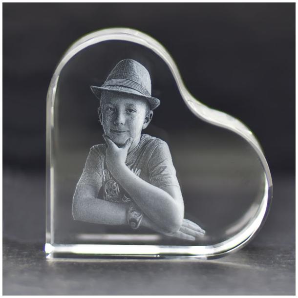 Glashjerte liggende - 8 cm
