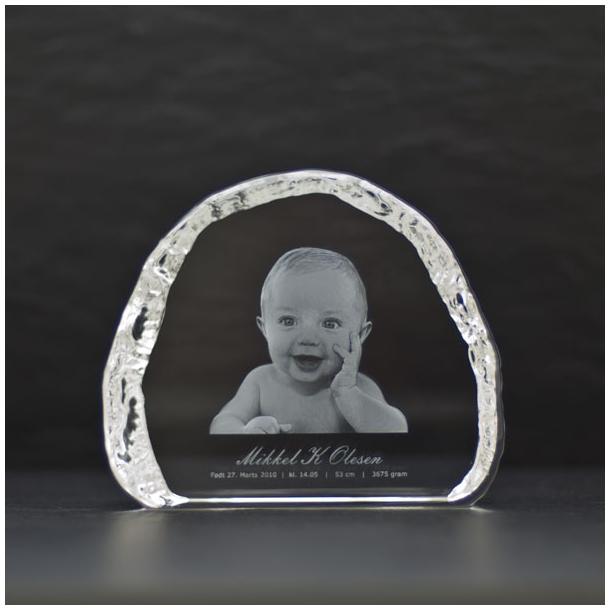 Isbjerg Glasblok - 2,5 x 12 x 10 cm